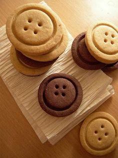 Receita: Biscoito Amanteigado com formato de botão