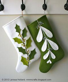 Mistleholly Felt Christmas Stocking pattern | Flickr - Photo Sharing!