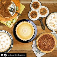 #Thanksgiving is just 12 days away?! Have you placed your order for a homemade #pie from @buttermilkskypiess yet? Place your order by #Saturday Nov. 19th.  #Repost @buttermilkskypiess with @repostapp  We are FALLing in love with these incredible autumn  pies. Stop on by on your way home and grab one for dessert!  Spiced Pumpkin Caramel Apple Butter Buttermilk Granny's Apple and Nanny's Pecan Pie.  Which one is your favorite #atlanta ?  #pie #sharepiesharelove #atlantafood  #GatewayAtl…