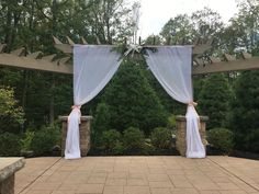 Draping makes such a beautiful touch to your ceremony at Sand Springs!