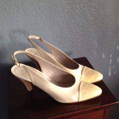 Vintage Chanel Shoes #vintage #chanel #bride