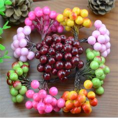 40pcs/80head Mini Fake Fruit Glass Berries Artificial pomegranate red cherry Bouquet Stamen Christmas Decorative Double heads-in Decorative Flowers & Wreaths from Home & Garden on Aliexpress.com | Alibaba Group
