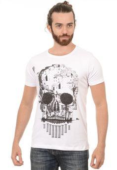Camiseta Masculina Caveira Vila