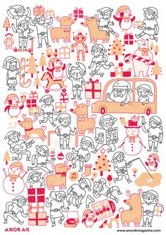 Advent coloring Calendar : Kids will love this! | by Miguel Bustos for Studio Anorak
