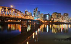 Blue Hour on Hawthorne Bridge and Portland, Oregon DRI | Blog ...