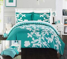 Chic Home 3 Piece Calla Lily Reversible Large Scale Flora...