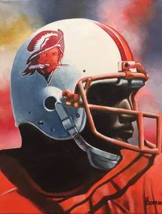 Doug Williams, Tampa Bay Buccaneers by Dan Stromme Nfl Football Players, Football Cheerleaders, Football Helmets, Buccaneers Football, Tampa Bay Buccaneers, American Football League, National Football League, Football Photos, Football Stuff