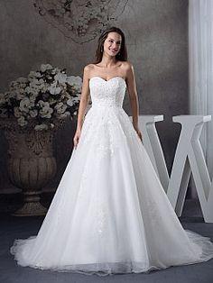 Mala - Бальное платье Атласная свадебном платье с Аппликации - RUB 15295,88руб.