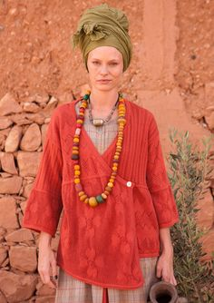Pointelle cardigan in eco-cotton – Shades of the desert in the Sahara – GUDRUN SJÖDÉN – Webshop, mail order and boutiques | Colorful clothes and home textiles in natural materials.