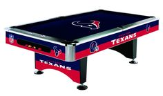 Houston Texans Licensed Billiards Table with Team Logo Cloth from Imperial International