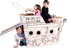Cardboard Playhouse....perfect for my little pirate.