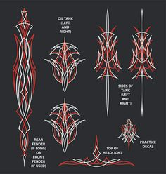 5544056b 20 Best Hand Striping/ Pinstriping Examples images | Pinstripe art ...