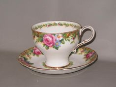 Paragon Tapestry Rose Footed Cup Saucer B11B   eBay