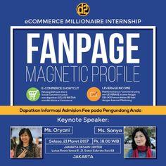 "Selasa Sore ""Fanpage Magnetic Strategy"" training 21 Maret 2017 Pk.18.00 Registrasi http://myonlydisk.com/emi  Wa.08158165028"