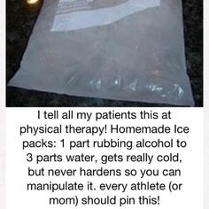 Home made ice pack.