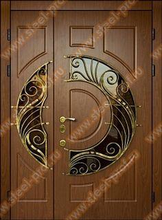 Bradley & I both love this front door. This would be the front door we have on our dream house! Wooden Main Door Design, Front Door Design, Front Door Colors, Cool Doors, Unique Doors, Door Design Interior, Interior Doors, Entry Doors, Front Doors
