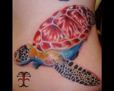 Turtle by Creepy Chris Beck #InkedMagazine #turtle #inked #tattoo #tattoos #ink