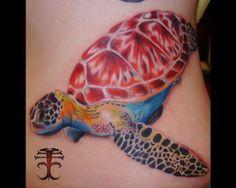 Turtle by Creepy Chris Beck #InkedMagazine #turtle #inked #tattoo #tattoos #ink