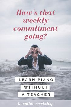Struggling to commit to a lesson every single week? Learn on your own time! Discover what it takes to learn piano without a teacher. Teach Yourself Piano, Music Theory, Piano Lessons, Music Education, Workshop, Teacher, Songs, Writing, Learning