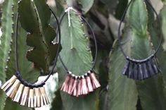 Leather Tassel Necklaces by Ceelha