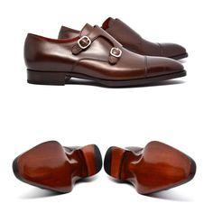 cobblerunion: Classic meets contemporary. #CobblerUnion Francis III double-buckle monkstrap x Cobbler Union