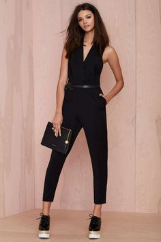 Nasty Gal Champagne Room Tuxedo Jumpsuit | Shop What's New at Nasty Gal