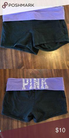 Pink Victoria Secret Yoga Shorts Pink Victoria Secret Yoga Shorts Medium, worn condition. PINK Victoria's Secret Shorts