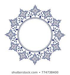 China blue and white Mandala Painting, Dot Painting, Couture Embroidery, Arabic Art, Baroque Fashion, Mandala Design, Geometric Art, Arabesque, Fabric Patterns