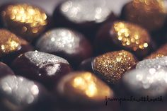 add sparkle to some chestnuts for easy holiday decorating