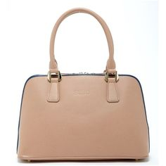 Melissa Dome Shape Satchel Beige Saffiano Leather Tote Tan Crossbody (5.015 ARS) ❤ liked on Polyvore featuring bags, handbags, shoulder bags, tan, purses crossbody, hand bags, cross body cell phone purse, crossbody tote and handbags totes