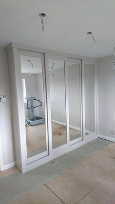 A gorgeous fitted wardrobe with sliding doors, made and installed in Cornwall.
