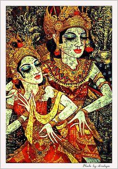 Bali Dance in Painting by Araleya, via Flickr
