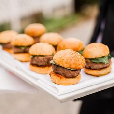"""Killer mini #burger appetizer from our #wedding. So #yummy. Photo by @limacaroline. @laubergeprovencale"""