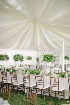 Draping, Chairs, Linens, accessories by Apres Party and Tent  Photography: Melissa Oholendt - melissaoholendt.com   Read More on SMP: http://www.stylemepretty.com/2014/02/26/green-white-nautical-wedding/