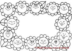 Flower Frame coloring pages