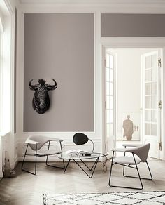 reception room- good colour scheme and architraving. considering elephant's breath with white coving/architraving