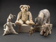 Winnie-the-Pooh and friends before conservation (courtesy New York Public Library's Digital Imaging Unit)