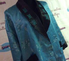 1960's Reversible Turquoise Kimono 0514005 by LisaLaRueRetroActive, $32.95