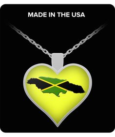 Jamaican Island Heart Necklace - ONLY 200 AVAILABLE