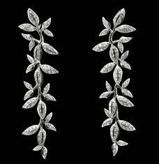 """""""Winter Frost"""" Earrings by Ole Lynggaard. http://www.olelynggaard.com"""