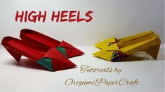 How to make HIGH HEELS Origami   Tutorial By OrigamiPaperCraft