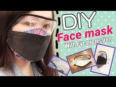 Diy face mask with eye protection design Kf classic cloth mask with eye care de Diy Mask, Diy Face Mask, Face Masks, Cachorros Shar Pei, Tapas, Breathing Mask, Diy Y Manualidades, Free Pattern Download, At Home Face Mask