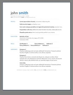 free resume templates to download to microsoft word