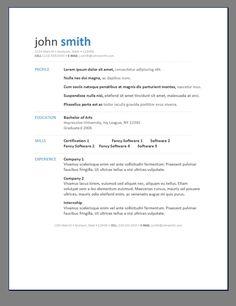 primera free resume templates open sample resumes easyjob best free home design idea inspiration - Free Word Template Resume