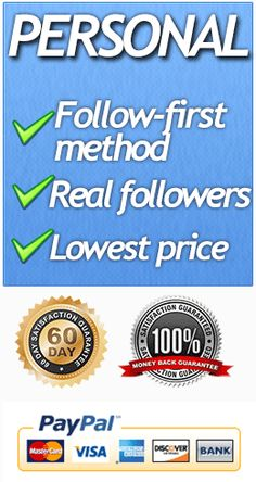 Follow-First method to Buy Twitter followers.