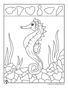 Ocean Hidden Pictures Printables to Teach Shape Recognition Worksheets For Kids, Activities For Kids, Hidden Pictures Printables, Hidden Picture Puzzles, Art For Kids, Crafts For Kids, Teaching Shapes, Hidden Objects, Quilting For Beginners