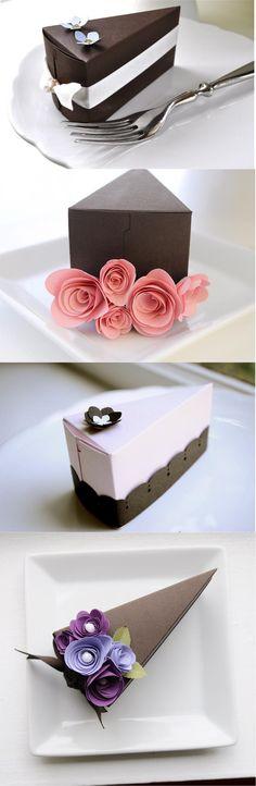 Weddingnouveaucom/2010/11/paper Cake Favor Slices By Imeon Design cakepins.com #cakechooser                                                                                                                                                                                 More