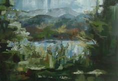 Lago di Campotosto Olio su tela 70x50 2015 Painting, Art, Art Background, Painting Art, Kunst, Paintings, Performing Arts, Painted Canvas, Drawings
