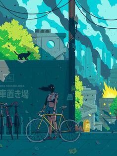 EnBiciArte. Bike parking area de Miquel Muerto