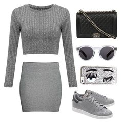 """""""Untitled #66"""" by gr20gk on Polyvore featuring adidas Originals, Chanel, Illesteva and Chiara Ferragni"""